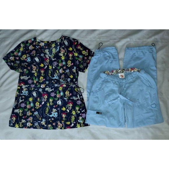 Koi Tokidoki Scrub Set Medium Top & Small Pants